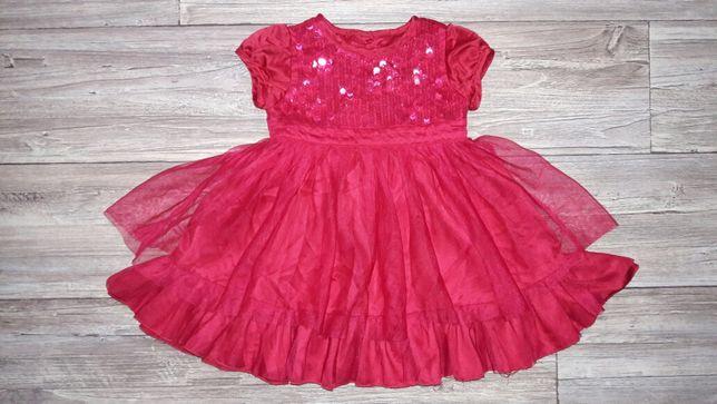 Красивое платье в пайетки на годик