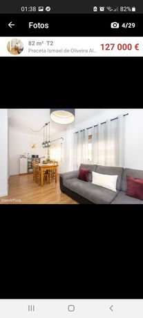 Apartamento T2 com boas áreas