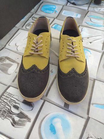 Sapatos homem pele