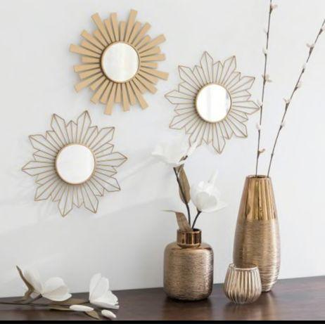 Trio de espelhos dourado