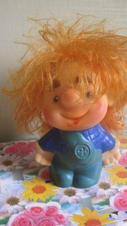 Кукла резиновая игрушка СССР Карлсон 14 см
