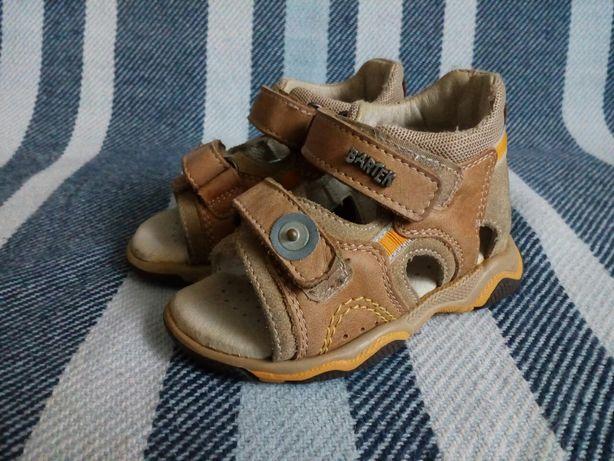Sandałki skórzane Bartek, beżowe, rozmiar 20