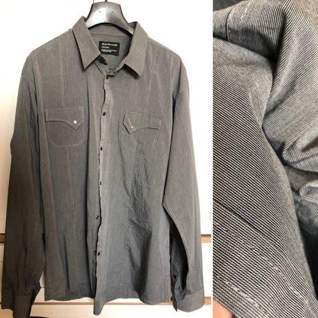 Стильная мужская рубашка на кнопках(батал). Б/у