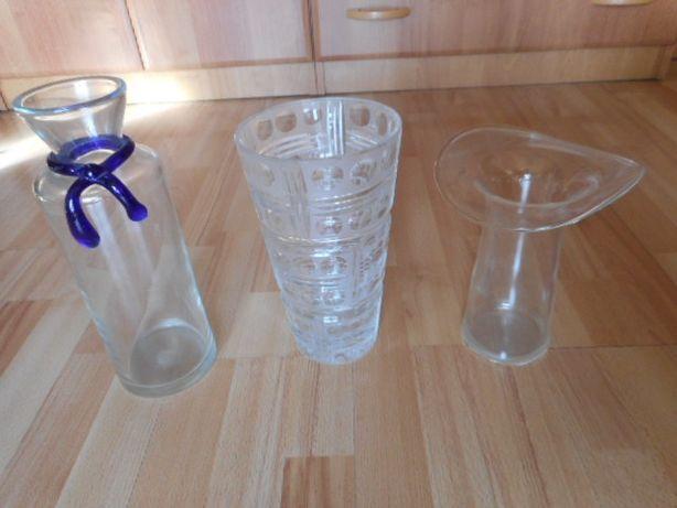 Piękny wazon szklany kryształowy kapelusz nietypowy szklana z kokardą