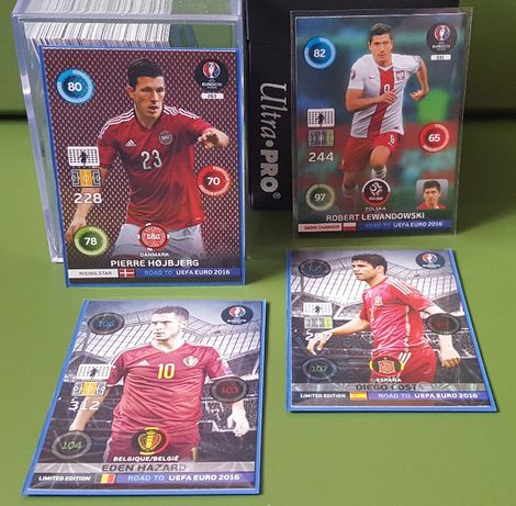 Panini ROAD TO EURO 2016 - karty (Line Up, Limited, Nordic Edition)