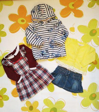 Набор вещей на девочку 86-92