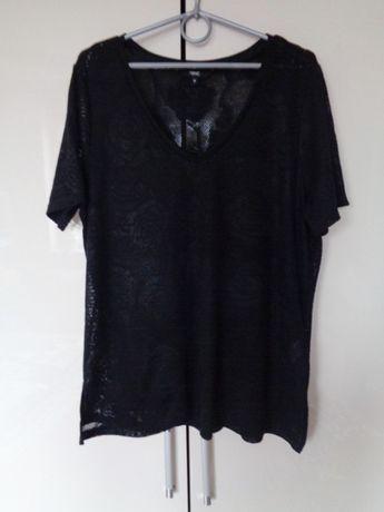 bluzka czarna koronkowa Next 44