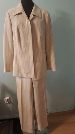 GARNITUR damski, garsonka, spodnie + marynarka, kostium vintage, r. 44