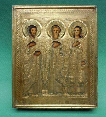 Икона «Святые мученики Самон, Гурий, Авив»