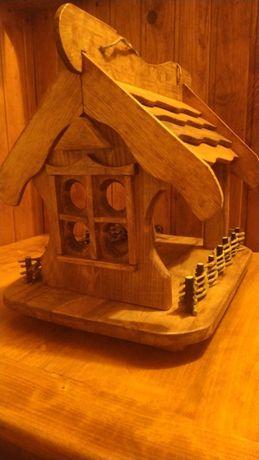 Игрушка для детей дерево домик птици зима16