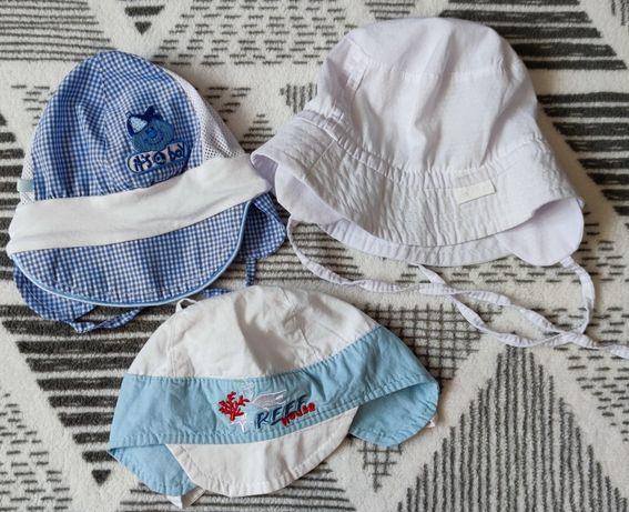Czapeczki/ kapelusze na lato 0-3m.
