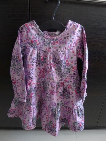 Fioletowa sukienka, sukieneczka, rozm. 98
