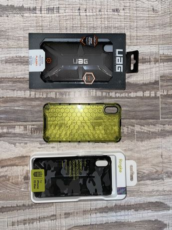 3 pokrowce na iPhone XS Max UAG Ringke