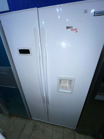 Б/у холодильник двухдверный. Side by Side. Недорого
