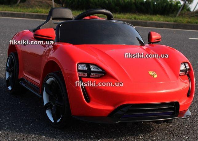 Детский электромобиль T-1718 красный, Porsche, Дитячий електромобiль