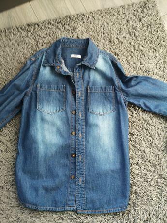 Koszula jeans chłopięca 140