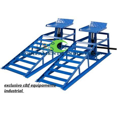 2x rampas de elevação auto hidráulicas 4 toneladas