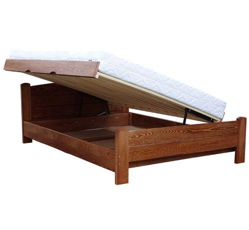 łóżko sosnowe otwierane na bok z wysokim siedziskiem AZYL 160x210