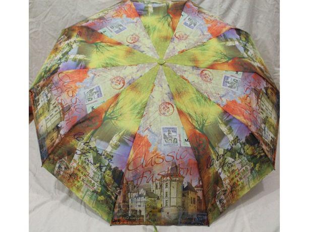Женский зонт Полуавтомат, Антиветер, 10 спиц карбон зонтик