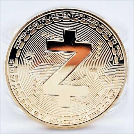Сувенирные монеты ZCASH в золотом и серебряном цвете биткоин, лайткоин