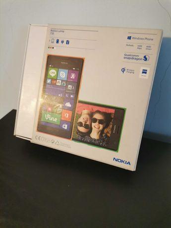 Uszkodzona Nokia Lumia z pudełkiem i dokumentacją
