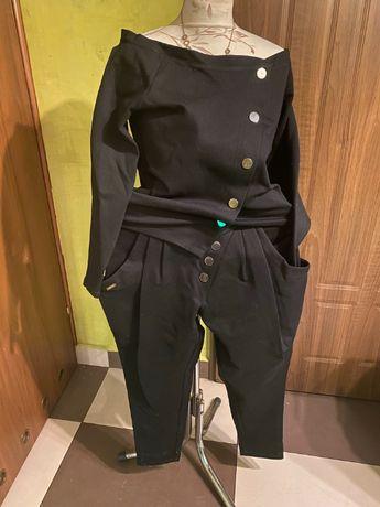 czarny komplet dresowy