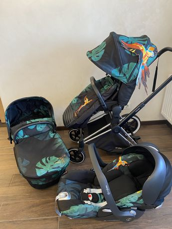 Коляска 3 в 1 Cybex Priam Lux «Birds of Paradise» + подарунок!