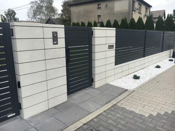 Wykonanie ogrodzeń betonowych, systemowych, montaż KOMPLEKSOWO