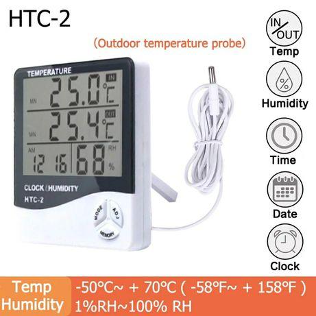 Часы гигрометр HTC-02