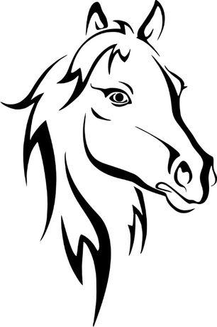 1044 Naklejka Koń, klacz głowa konia