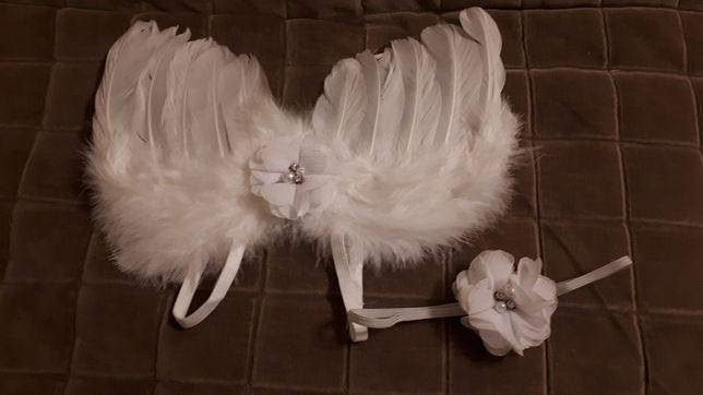Skrzydła i opaska dla aniołka