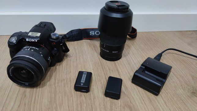 Camera Fotográfica Sony a55 com 2 Lentes ,etc