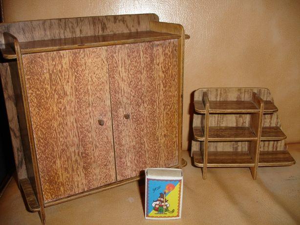 Набор игрушечной мебели: шкаф и этажерка. Раритет часів срср.