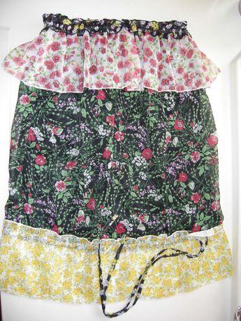 Top cai-cai floral Mango tamanho S