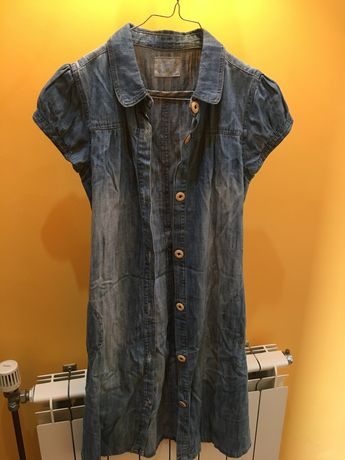 Vestido de ganga 14 anos ZIPPY com cinto e botões à frente