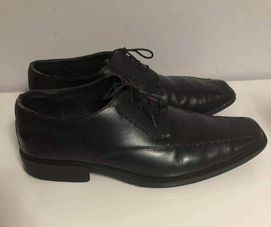 Czarne męskie buty, półbuty- rozmiar 42- skóra ekologiczna