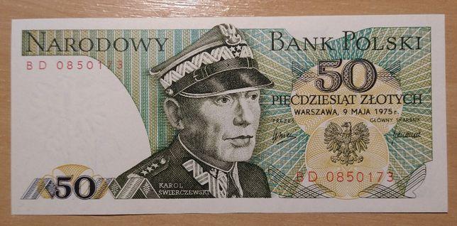 Banknot POLAND 50 złotych 1975 Seria BD