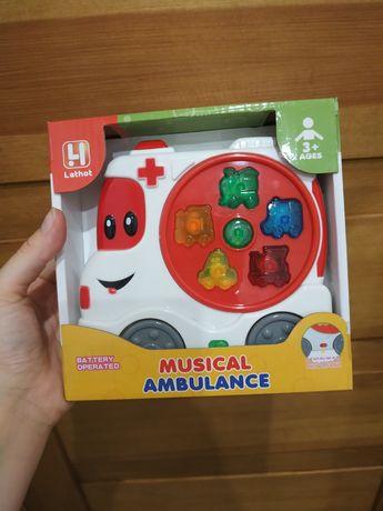 Grający ambulans karetka