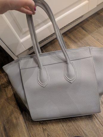 Szara pojemna torebka