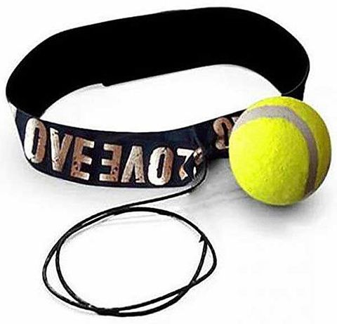 Тренажер fight ball (файт бол), теннисный мячик для бокса на резинке