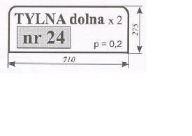 szyba tylna dolna Ursus 1604 Typ 1204 Kunów, C-385 stary typ ACX170