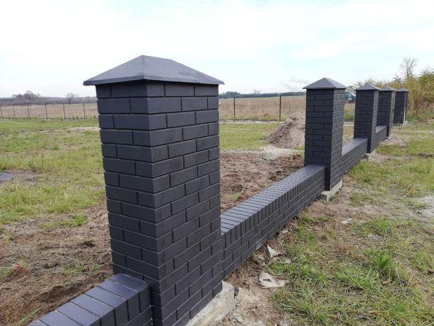Ogrodzenie betonowe imitacja ala klinkier
