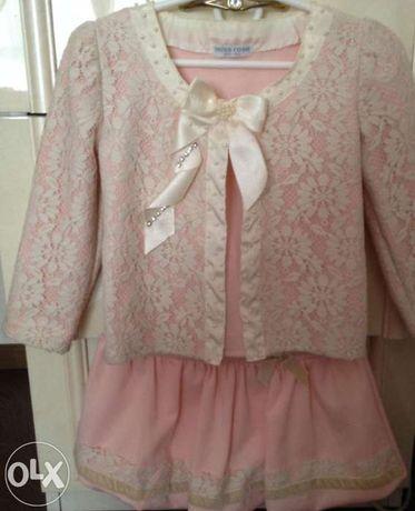 Нарядный костюм-тройка для девочки 4 года