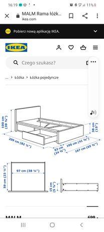 Sprzedam używane łóżko białe Ikea seria Malm