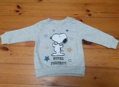 Bluza chłopięca Snoopy r.74 jak nowa - wysyłka 1 zł!