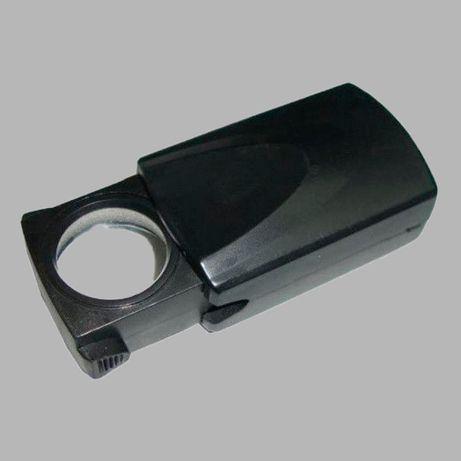 Лупа ручная MG21009 выдвижная с Led подсветкой, 20Х, диам-18мм.
