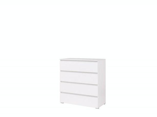 Komoda 4 szuflady biała nowa