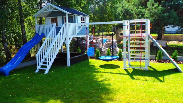 Domek dla dzieci drewniany, plac zabaw