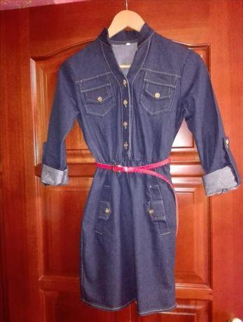 Платье джинсовое, повседневное, плаття
