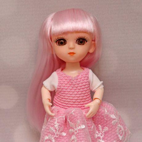 Laleczka lalka bjd 1/8 16cm ruchome stawy jasnoróżowe włosy